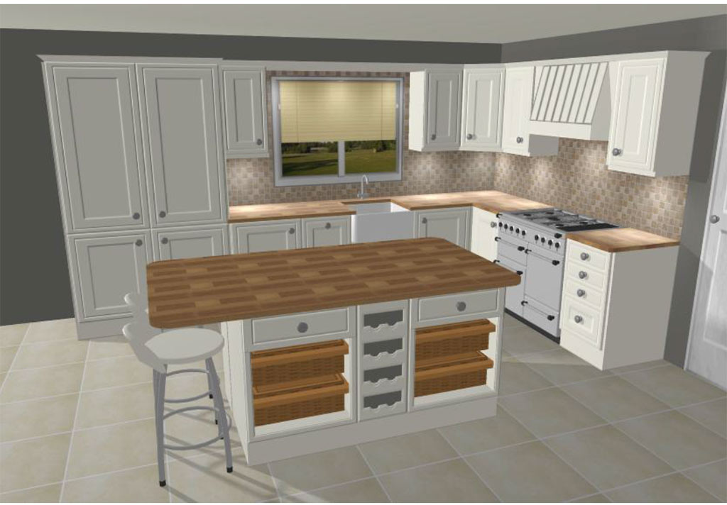 Free 3d planning bespoke kitchen bedroom design for Kitchen and bedroom designs